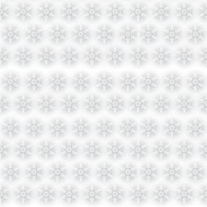 Snowflake White - toile de Jouy