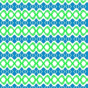 Wonky Ovals Blue Green