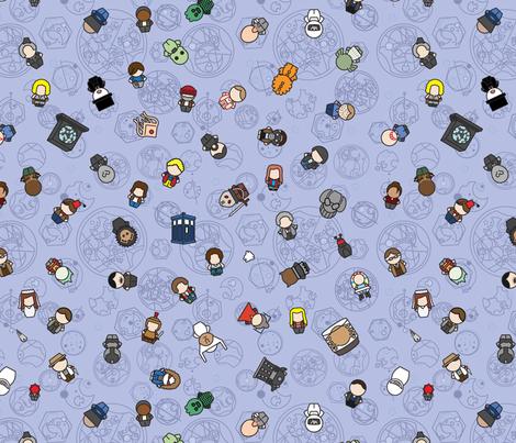 Doctors, Monsters & Companions fabric by studiofibonacci on Spoonflower - custom fabric