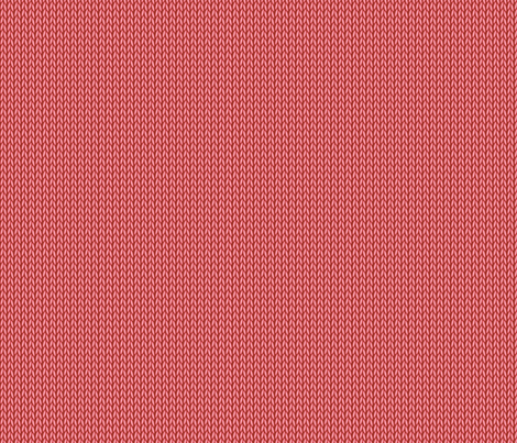 Stockinette Stitch (Red) fabric by studiofibonacci on Spoonflower - custom fabric