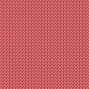 Stockinette Stitch (Red)
