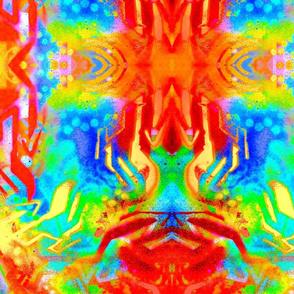 Psychedelic Graffiti Print