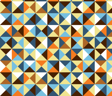 triangles fabric by shiny on Spoonflower - custom fabric