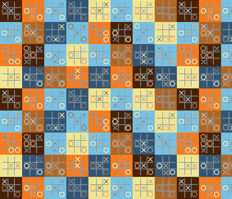 tic tac toe fabric by shiny on Spoonflower - custom fabric