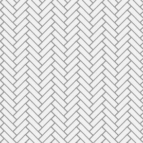herringbone grey and white