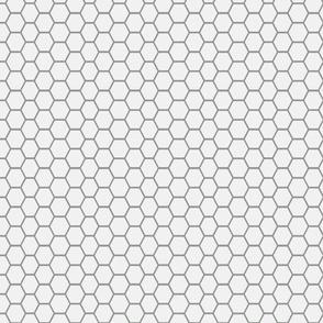 honeycomb grey on white