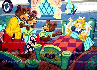 vintage kids kitsch Goldilocks 3 three bears fairy tales