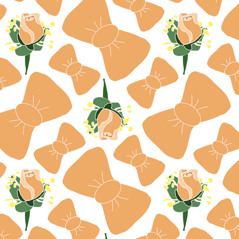 Bowties and Boutonnieres 2 fabric by eclectic_house on Spoonflower - custom fabric