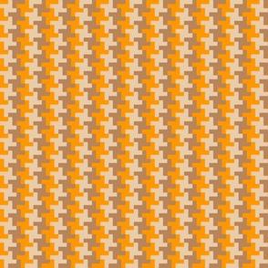 pepita orange-yellow beige brown