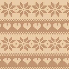 winter knit beige brown