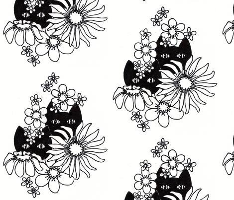 Mystery Cats 2 fabric by joycemj on Spoonflower - custom fabric