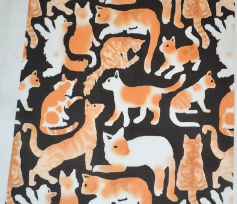 Scratchboard Kitties, orange