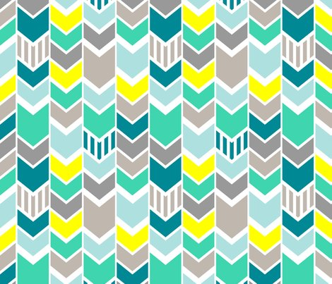 Teal chevron print background teal chevron background patterns - Teal Gray Yellow Chevron Fabric Mrshervi Spoonflower