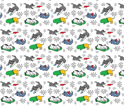 Kittens_in_Mittens fabric by b2b on Spoonflower - custom fabric