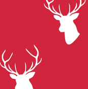Christmas Red Deer half scale