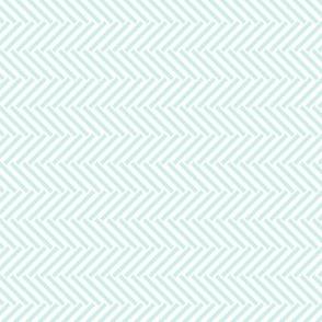 Mint Herringbone Weave
