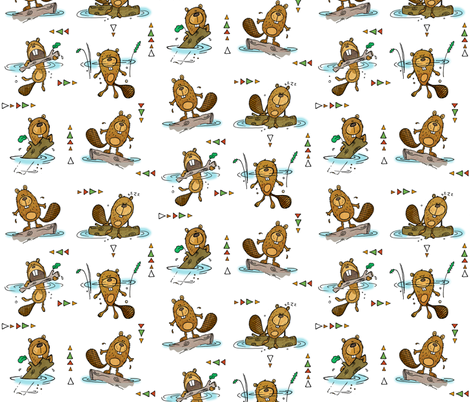 All the little beavers fabric by mulberry_tree on Spoonflower - custom fabric