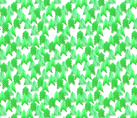 Can't See the Forest for the Trees fabric by hexo on Spoonflower - custom fabric
