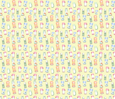 Thermos Yellow smaller fabric by busy_work_ on Spoonflower - custom fabric
