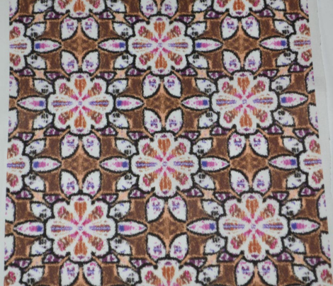 Brown Velvety Floral