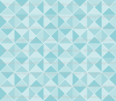 Blue Geometric design