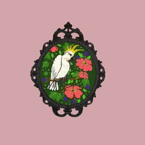 cockatoos with frames pink
