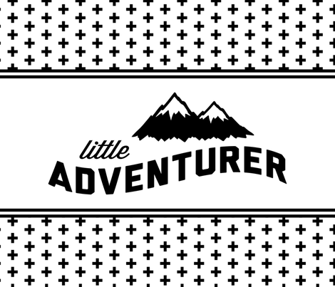 Little Adventurer // cross fabric by littlearrowdesign on Spoonflower - custom fabric