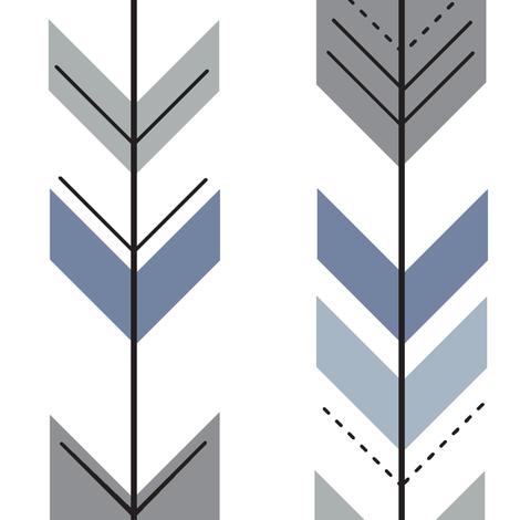 Fletching Arrows // Wild Lake - 4 color fabric by littlearrowdesign on Spoonflower - custom fabric