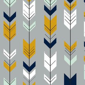 fletching arrows // navy/grey/mint/mustard