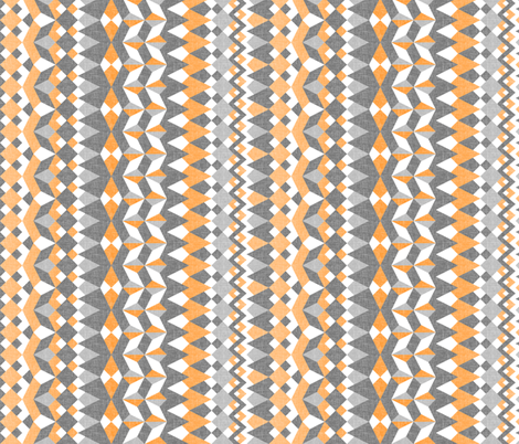 Across the Valley with Zesty Orange - Vertical Stripes fabric by rhondadesigns on Spoonflower - custom fabric