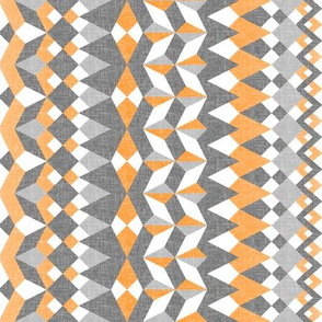 Across the Valley with Zesty Orange - Vertical Stripes
