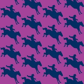 Rodeo Cowboys in Navy & Violet