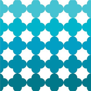 Quatrefoil Turquois Ombre