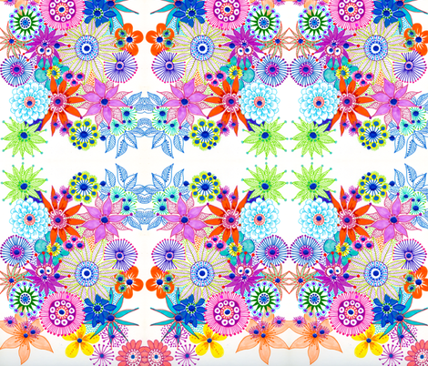 Flowers for mother fabric by bunyipdesigns on Spoonflower - custom fabric