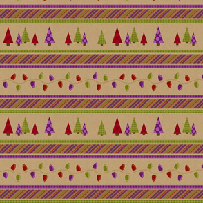 Christmas Kraft Stripe