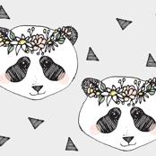panda grey flower - elvelyckan