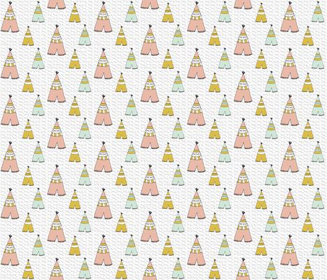 teepee spring - elvelyckan fabric by elvelyckan on Spoonflower - custom fabric
