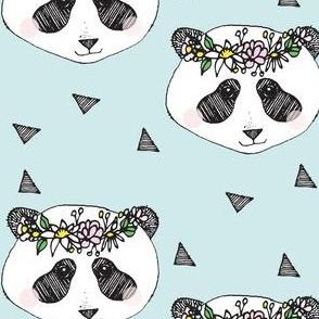 panda blue flower - elvelyckan