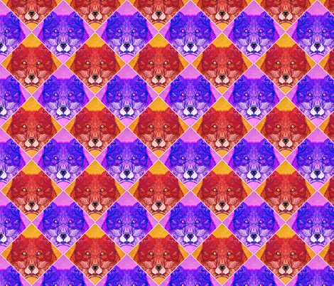Wolf fabric by jadegordon on Spoonflower - custom fabric