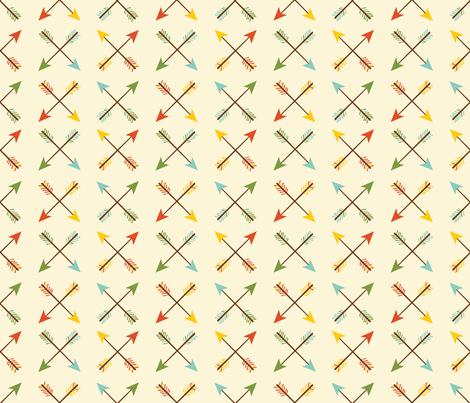 Arrows 2 on Cream fabric by oliveandruby on Spoonflower - custom fabric