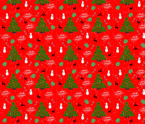 Chistmastree fabric by lslstudio_design on Spoonflower - custom fabric