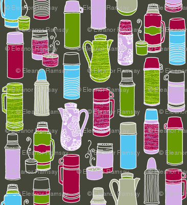 Thermos Collection in Retro Colors