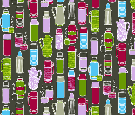 Thermos Collection in Retro Colors fabric by elramsay on Spoonflower - custom fabric