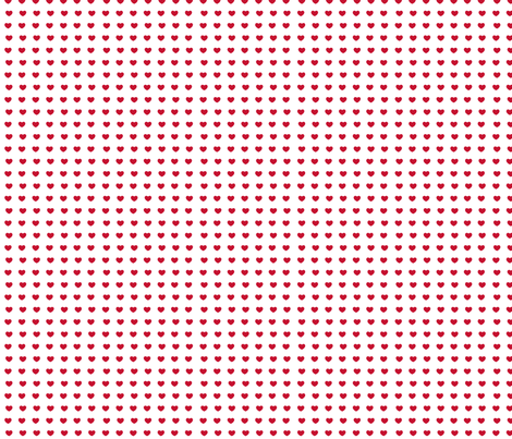 Red hearts- mini fabric by drapestudio on Spoonflower - custom fabric