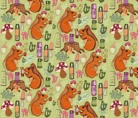 Share my Flask of Acorn Tea fabric by slumbermonkey on Spoonflower - custom fabric