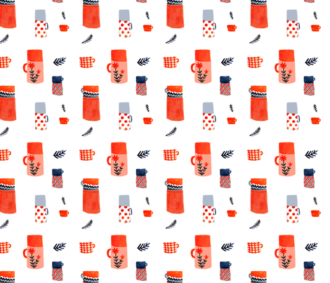 Thermoses fabric by abigailhalpin on Spoonflower - custom fabric