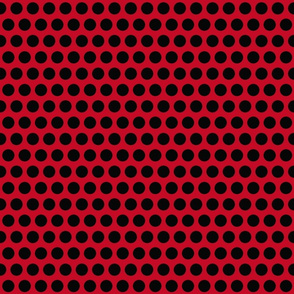 Donald Dots on Red