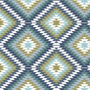 Aztec // blue