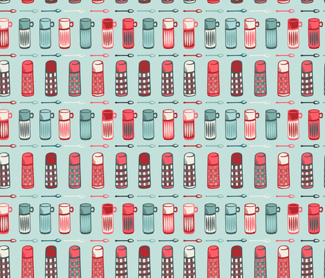 thermos mixed mint fabric by jaymehennel on Spoonflower - custom fabric