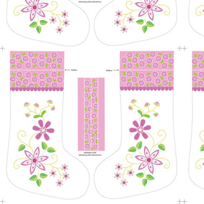 Pink Daisies Christmas stocking